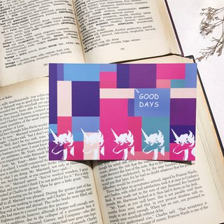 Unicorn KUZA Unicorn Cool Jade - Good Days Good Day - the blessing card / postcards