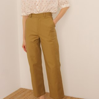 Evans Trousers Khaki Cotton Classic Pants