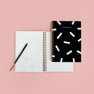 BNTP double inner page ring notebook A5-icing black, BNP81765