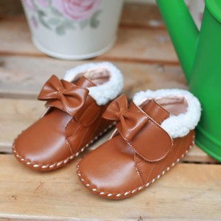 AliyBonnie Children's Shoes Snow Country Small Baby Boots - Caramel Coffee