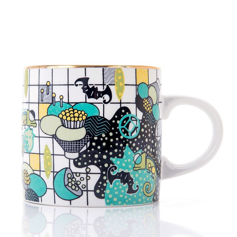 Oriental Memphis Series Mug - Pomegranate Flower