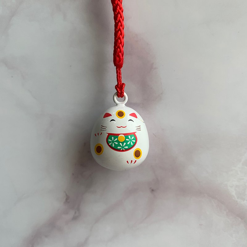 Water piano bell pendant-lucky cat-double-sided pattern