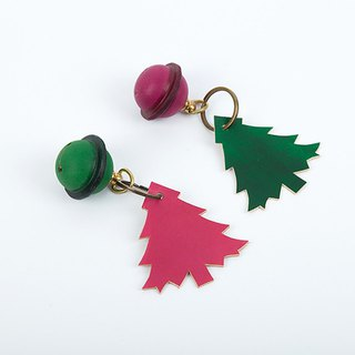 [Tangentialism] leather bell Christmas tree key ring