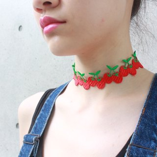 bubble fruit necklace - cherry
