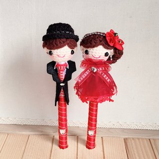 Red Rose paragraph wool dress happy baby pen