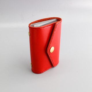 RENEW - Vegetable tanned leather hand stitch 20 card card holder / card holder / business card holder chili red