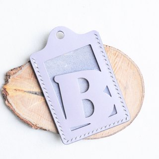 Initial B letter certificate set well stitched leather material package card holder business card holder free engraving