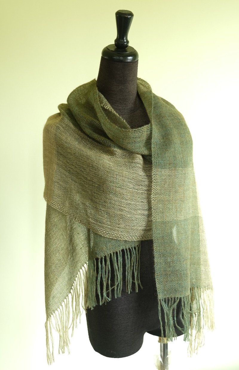 Own Handwoven Alpaca Wool Scarf - Rich My Handwoven Alpaca / Wool Scarf - Harvest