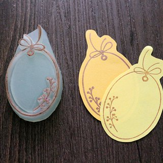 Apu handmade chapter practical oval fruit branch tag seal hand stamp