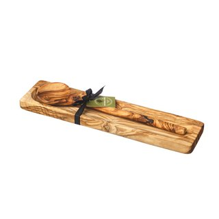 Exclusive agent - British Naturally Med olive wood long handle spoon set (spoon and stand)