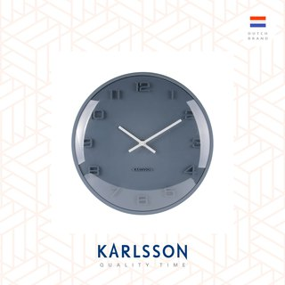 荷蘭Karlsson Wall clock  Elevated petrol blue凸玻璃藍色掛鐘