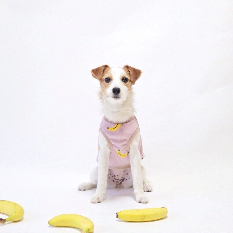 Cool-feel Materials Dog Shirt / Banana