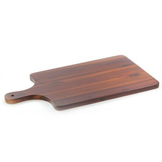 |Qiaomu | Wooden Handle Cutting Board / Rectangle Plate / Wood Plate / Acacia
