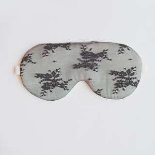 Black Lace  sleep mask / Floral sleep mask ,100%silk lace mask