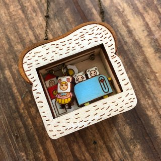 Square bag mother and small square bag story box necklace