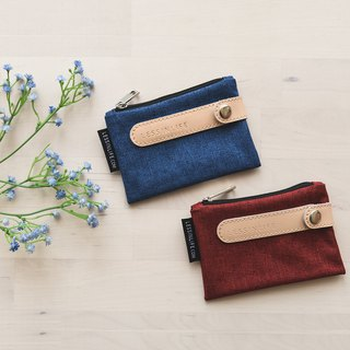 Elegant blue multi-function storage coin purse 3 seconds to carry the key - limited time gift set