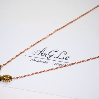 ❡ Jinsha brass necklace