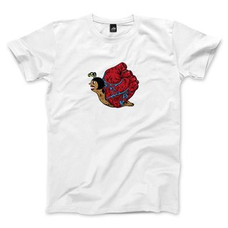 Heart snail - White - Unisex T-Shirt