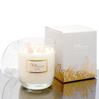 """Rosy Dreams"" naturally scented candle L"