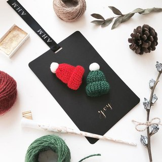 Western calligraphy cold wool knit small cap Christmas card