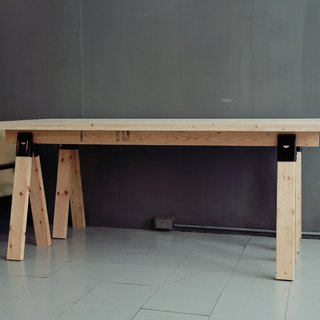 Rustic table / table / table / showcase / portable /