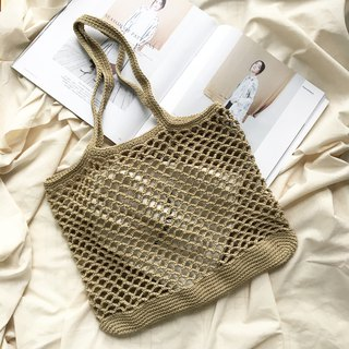 Brown Khaki Natalia Crochet bag