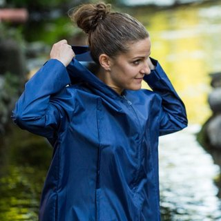 Unisex raincoat blue 'Line'
