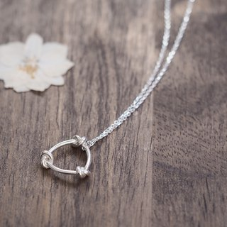 Eternal knot necklace 925 Silver