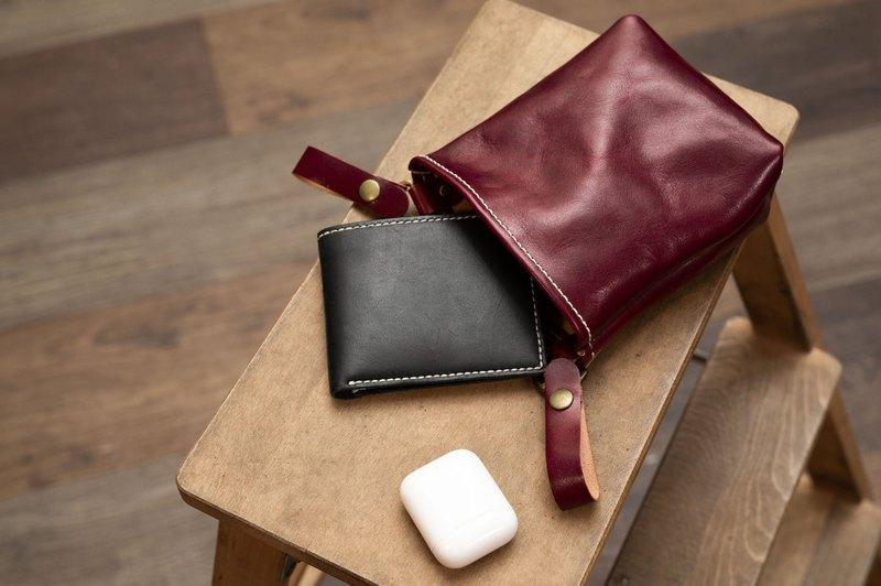 簡約皮革腰包 - 手縫皮革材料包