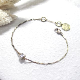 ♦ ViiArt ♦ Transition ♦ Zircon Brass Bracelet