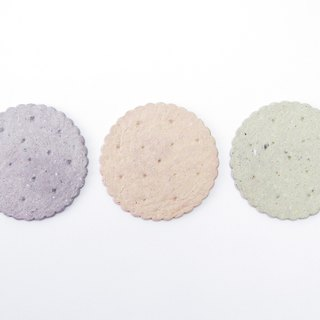 Biscuits - coasters / absorbent coasters / 3-color set / free printing