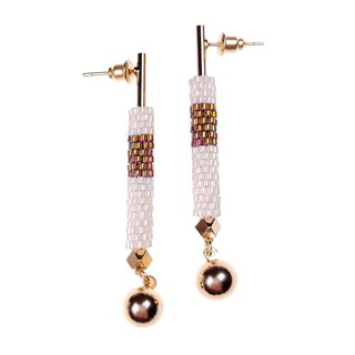 Ivory White - Lavish Drop Earrings