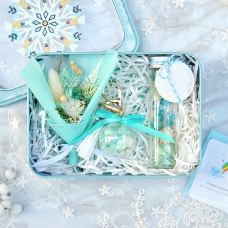 Limited Dry Flower Christmas Gift Box - Tiffany Snowflake / Tinplate / Exchange Gift