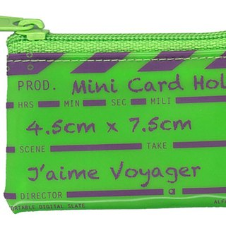 Director clap Mini card holder - Green