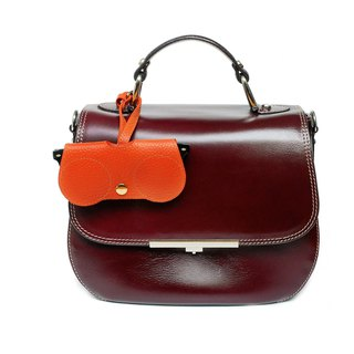 Orange Pebble B.Cover Hanging Out leather Pouch Cases Sunglasses