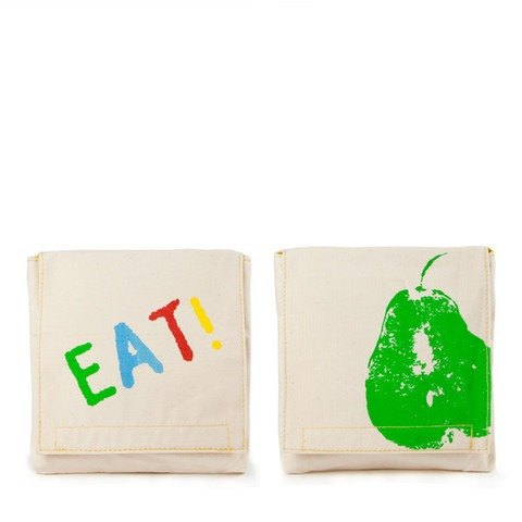 Canadian fluf organic cotton bag - bite a pear