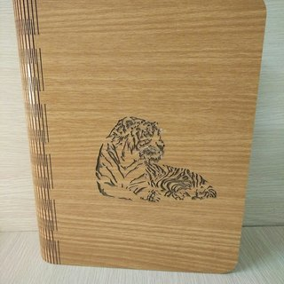 Taiwan stack [customization - color and pattern can be replaced] wood: patent (A5) - body shape notebook - Crouching Tiger notebook / album / stationery / folders / gifts / gifts