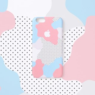 iPhone case - Pastel Geo - for iPhones - non-glossy hard shell C17