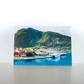 Photographic Postcard: Small town on the edge of a Norwegian fjord I