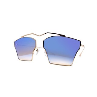 【ZALES】 Sunglasses Future Series - Golden Futuristic Gold Sunglasses