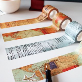 Ching Ching X Simple Life series CST-272 35mm Masking Tape (Antique Map)