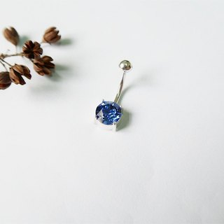 Round・Belly ring Royal blue Sterling Silver【SZBR1731】