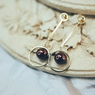 COR-DATE-Minimalism - hanging around the planet earrings - dark coffee -600