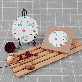 [Autumn mood] pumpkin forest ceramic coasters