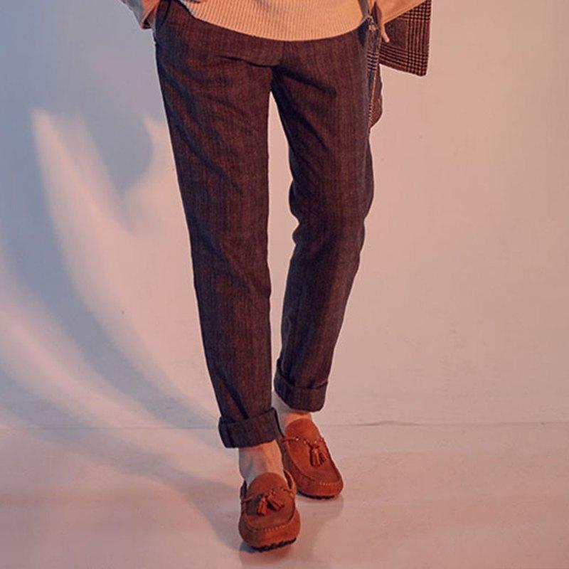 Vanger 造型流蘇樂福鞋 - Va266麂皮褐