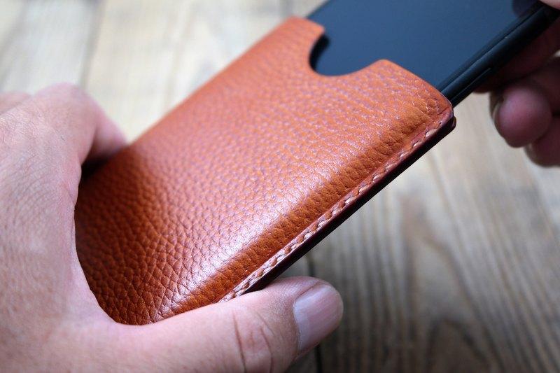 online store 5e68b 6c47c APEE leather handmade ~ plastic phone holster ~ lychee shallow tea ~  (iphone X)