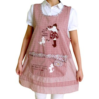 [BEAR BOY] VIP dog girl apron - red (back tied)