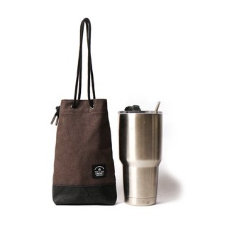 Point bag [icleaXbag] beverage bag simple drink accompanying bag can be engraved dark gray