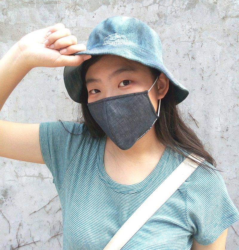 【防疫新品】可洗重用 HKers 牛仔布黑 淨色 立體 手做 型格 口罩