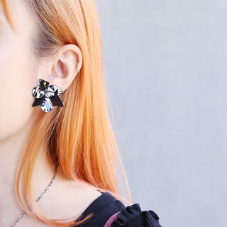 Philosopher  - Hand Made Earrings (Black White)